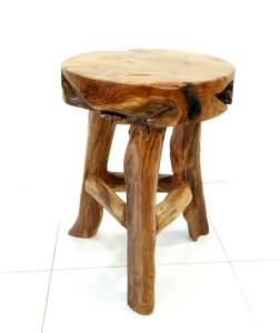 teak root round stool (2)