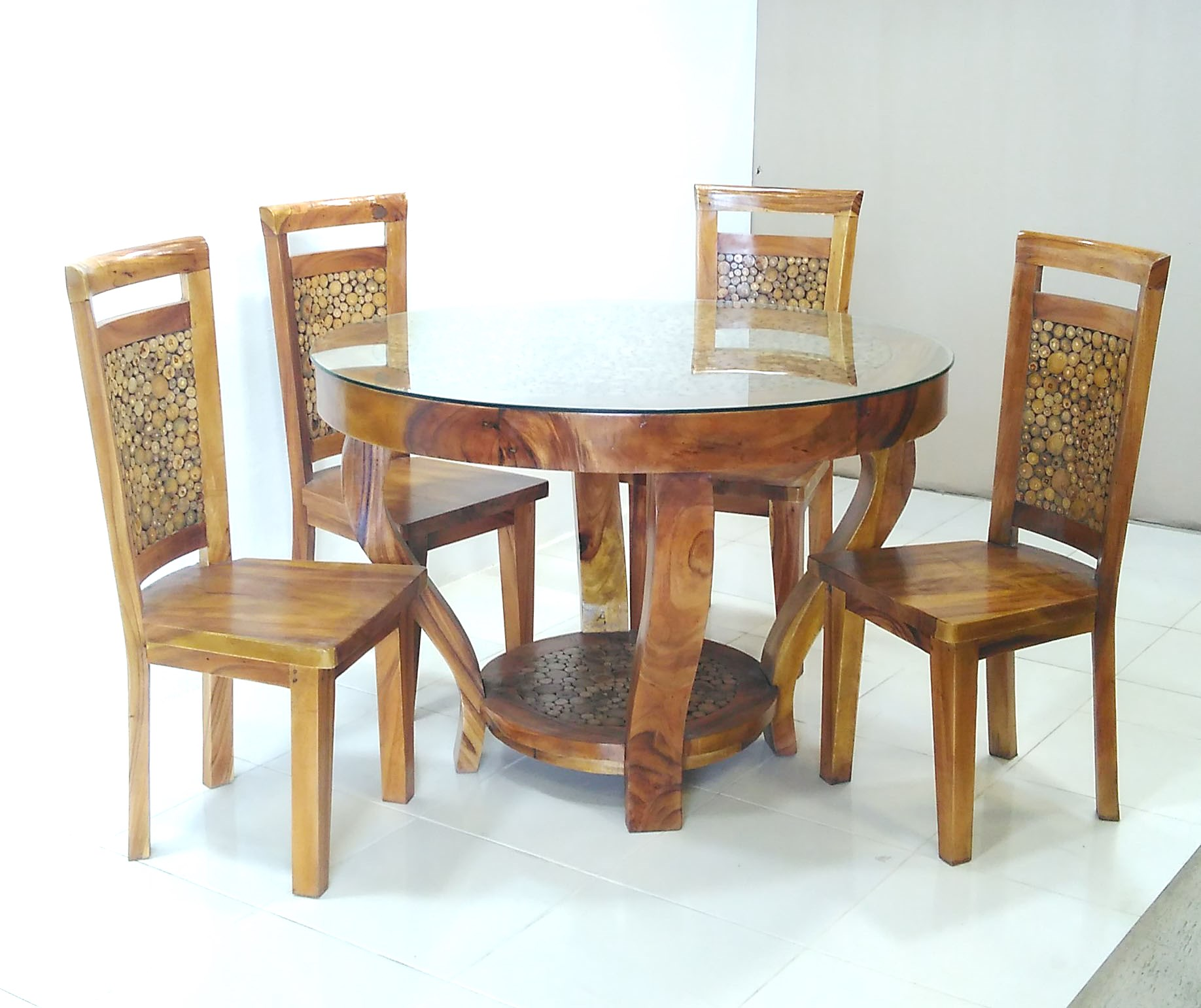 DINING SUITE 5 PCE KD W RESIN TOP ONLY 1700ja 329gl C V Prime Java