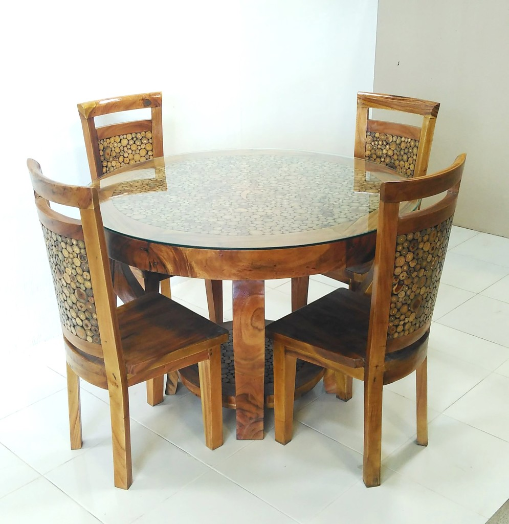 dining suite 5 pce kd w glass top 1700ja 329gl c v prime java