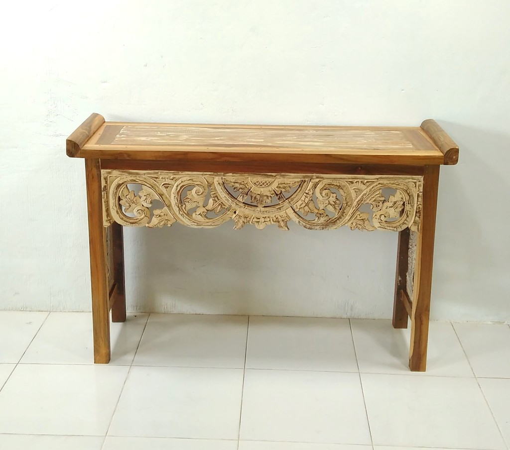 Console table carved 125x80x40cm 600psr c v prime java for Sofa table vs console table
